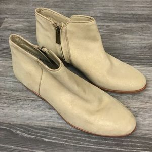 Sam Edelman Metallic Gold Petty Booties, size 8.5